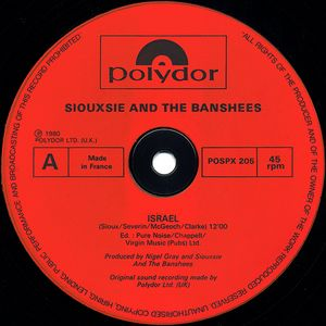 Siouxsie And The Banshees - Israel (12'')